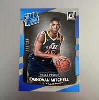 2017-18 Donovan Mitchell Donruss Rookie RC Silver /299 Press Proof #188 Jazz SP
