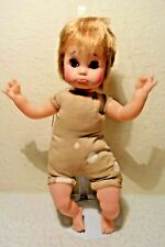 """Vintage Eegee Goldberger Doll Co. Pouty Sad Faced Baby Doll Wearing 16""""Tall"""