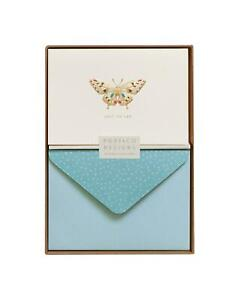 Butterfly Card Set Just To Say-10 Blank Note Cards & Envelopes - Portico Designs