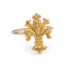 Antique Victorian Fleur de Lis Conversion Ring Vintage 14k Yellow Gold Estate