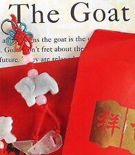 Cabra Jade Chino Zodiaco Animal Colgante Red Envelope fiesta de cumpleaños de Año Nuevo