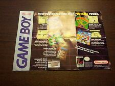 Nintendo Game Boy Compact Instruction Owner's Manual and Poster