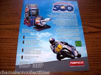500 GP By NAMCO 1998 ORIGINAL NOS VIDEO ARCADE GAME MACHINE FLYER BROCHURE