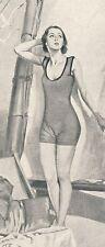 Kaloderma Sonnencreme Badeanzug Reklame von 1929 segeln Segelboot Sonnenbad Bad