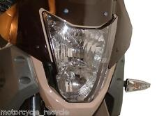 NEW POWERBRONZE HEADLIGHT PROTECTOR CLEAR FITS YAMAHA XT660 XT 660 TENERE 08-12