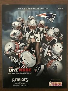 New England Patriots GAMEDAY Program One More vs Houston Texans AFC Divisional
