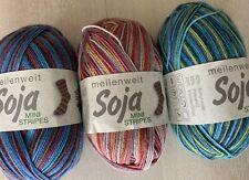 "3x 100 g Lana Grossa Sockenwolle/ meilenweit/ Soja ""Mini Stripes""/"