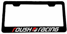 2X ROUSH RACING Stainless Steel Black License Plate Frame Ford Mustang F-150