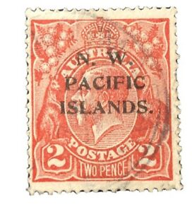 "NEW GUINEA 1915  Provisional ""NW PACIFIC ISLANDS""  #45  Used Stamp"