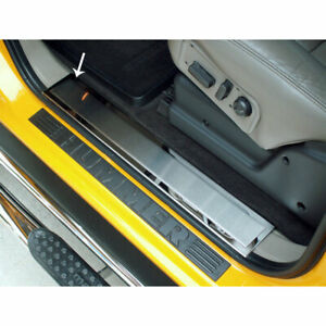 ACC Front Door Sill Trim Kit Brushed Insert fits 2003-2007 Hummer H2-Polished
