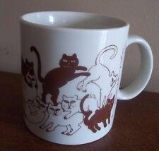 Taylor & ng Wrestling kittens Cats Vintage Coffee Tea mug Cup rare brown Gift
