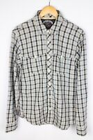 Tommy Hilfiger Denim Men Casual Shirt Blue Check Cotton size L