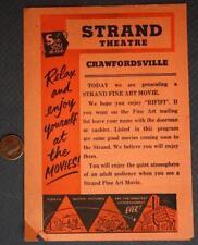 1956 Crawfordsville,Indiana Strand Theatre FIVE movie brochure-James Dean-Giant!