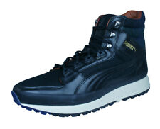 Puma Montapon Luxe Mens Leather Trainers / Hi Tops - Black