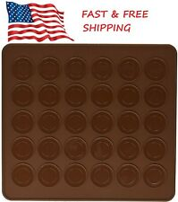 2 Pack Silicon Macaron Macaroon Baking Mat Sheet DIY Chocolate Cookie Mold USA