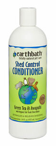 Earthbath Dog All Pet Natural Conditioner SHED CONTROL GREEN TEA & AWAPUHI 16 oz