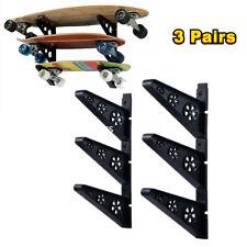 3 Pairs Skateboard Rack Skate Hanger Ski Boards Scooter Rack Display Wall Mount
