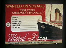 Belgian Tapestry Pillow Cover - Voyages by Sea Vintage Ocean-liner Travel