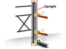 Structural Cantilever Racking Uprights - 16' Heavy Duty Double Sided Upright