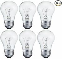 6 pack 15-Watt Decorative A15 Incandescent Light Bulb, Medium (E26) Standard