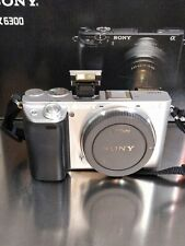 Sony Alpha A6300 24.2MP Digital Camera - Silver (Body Only) - Barely used