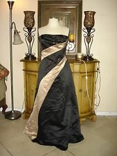 New Jessica McClintock Black & Brown Strapless Formal/Prom/Party Dress Cheap 12P