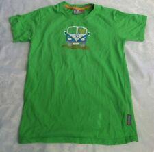 Elkline T-Shirt 152 - 158 VW Bully grün Unisex mit beidseitigem Design