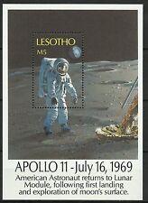 Lesotho Espace Homme Lune Apollo Space Weltraum Raumfahrt Spazio Espacio ** 1989