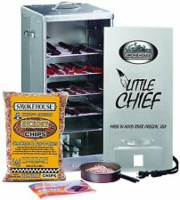 Electric Smoker Front Load Meats Fish Cooking Great Starter Kit Chips Included