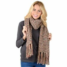 Ladies Paris Long Chunky Knitted 50% Wool Scarf Womens Winter Fashion Accessory