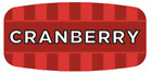 """Cranberry Labels 1000 per Roll Food Store Flavor Stickers .625"""" X 1.25"""""""