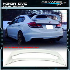 12-15 Honda Civic Mugen Style Trunk Spoiler Painted #NH578 Taffeta White