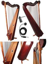 Professional Venezuelan folk harp 32 & 36 strings with Bag pack,Tuning Key & Mic