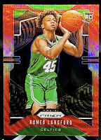 Romeo Langford 2019-20 Panini Prizm Red Wave RC Boston Celtics Rookie