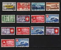 Switzerland - Issues from 1937-39, cat. $ 85.80