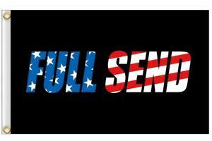FULL SEND Flag 3x5 ft AMERICA Background Nelk Boys USA