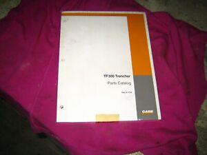CASE ORIGINAL TF300 TRENCHER  BRAN NEW IN PLASTIC WRAPPER PARTS MANUAL
