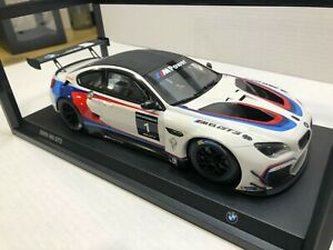 1:18 Minichamps BMW M6 GT3 White Race Car