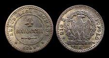 Italie 4 BAIOCCHI 1849R Rome Aigle sur Faisceaux Billon