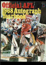 1968 OFFICIAL AFL AUTOGRAPH YEARBOOK LOT2143