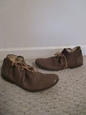 HUMANOID Snapper Lotus Mud / Brown Leather Flat Laced Shoes Size 36 NEW