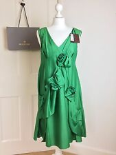 Rare: Mulberry Flower Dress RRP £995 NEW W/ Tag - sz10 Emerald Green BNWT