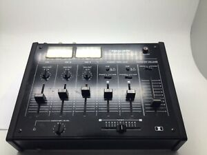 Vintage Realistic stereo Disco Mixer mixing console Twin Illuminated VU Meters
