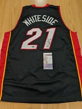 HASSAN WHITESIDE - Miami Heat Signed jersey With 2 COAs