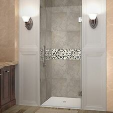 "Aston Cascadia 29"" x 72""H Frameless Hinged  Shower Door Chrome SDR995-CH-29-10"