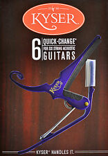 KYSER  QUICK CHANGE PURPLE CAPO FOR ACOUSTIC GUITARS - MADE IN USA
