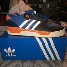 NYC Adidas Rivalry Low The 5 Boroughs Sz10.5 1500 PAIRS Blue Orange Black White