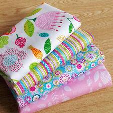 4 pcs 40CM*50CM Sweet Pink Printed Cotton Fabric Telas Bundle Patchwork tecidos