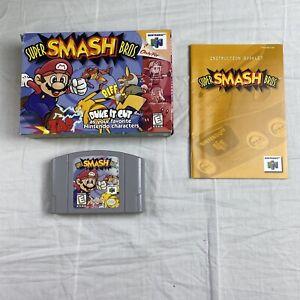 Super Smash Bros. - N64 - In Box With Manual