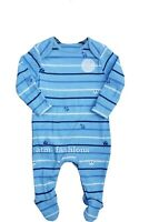Mothercare Babygrow Poppers Blue Striped Baby Grow Sleepsuit Cotton Boys Kids